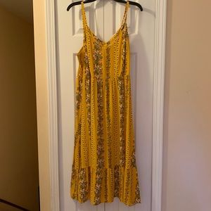 NWT Midi Dress adjustable straps, empire waist